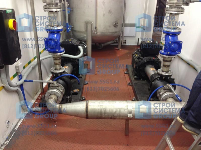 Блочные насосные станции. Блок контейнер Роснефть водоподготовка система сатурирования воды