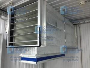 Блок контейнер кислородная станция для медицинского учреждения, автоматическая вентиляция
