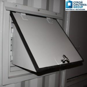 короб приточной/вытяжной вентиляции со снегозашитой