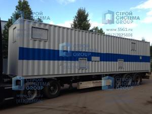 Блок контейнер 12м кислородная станция для медицинского учреждения
