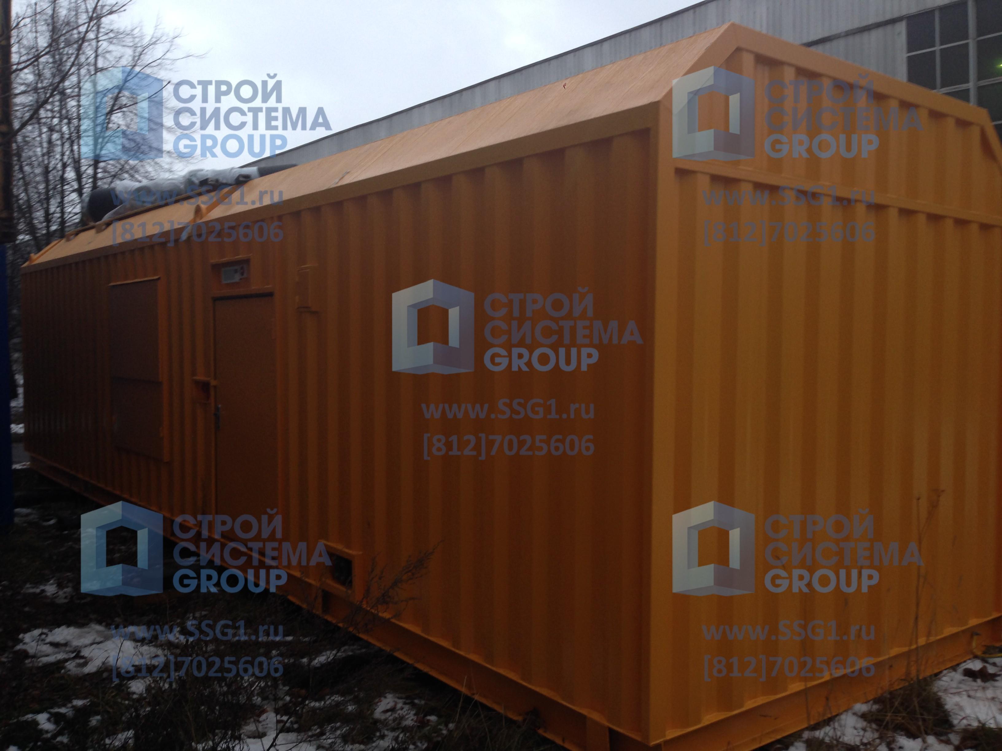 Блок контейнер для газопоршневой электростанции